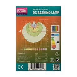 Arcadia D3 Basking Lamp UVB és melegítő izzó | 100W