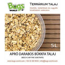 Bugs-World Beech Chip Fine Bükkfa talaj | 5L