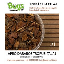 Bugs-World Orchid Bark Fine Apró darabos trópusi talaj | 2L
