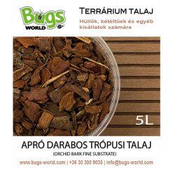 Bugs-World Orchid Bark Fine Apró darabos trópusi talaj | 5L