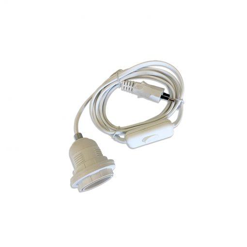 Bugs-World Műanyag foglalat kapcsolós vezetékkel | 60W