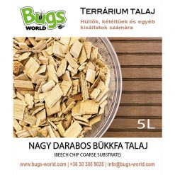 Bugs-World Beech Chip Coarse Bükkfa talaj | 5L