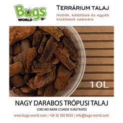 Bugs-World Orchid Bark Coarse Nagy darabos trópusi talaj | 10L