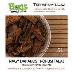 Bugs-World Orchid Bark Coarse Nagy darabos trópusi talaj | 5L