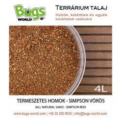 Bugs-World Természetes homok - Simpson vörös | 4L