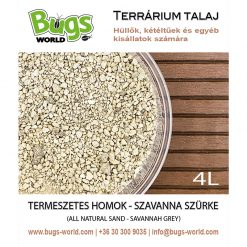 Bugs-World Természetes homok - Szavanna szürke | 4L