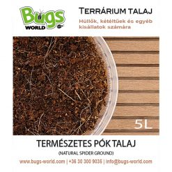 Bugs-World Spider Ground Természetes pók talaj | 5L