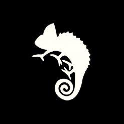 ChameleonFarm Cham Sticker Kaméleon matrica   Fehér