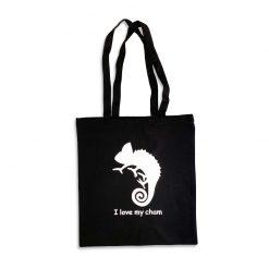 I Love My Cham Prémium vászon bevásárló szatyor | Fekete