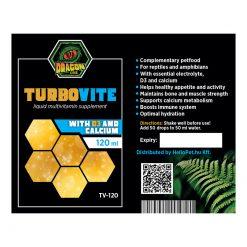 DragonOne TurboVite Folyékony multivitamin + D3 és kalcium | 120 ml