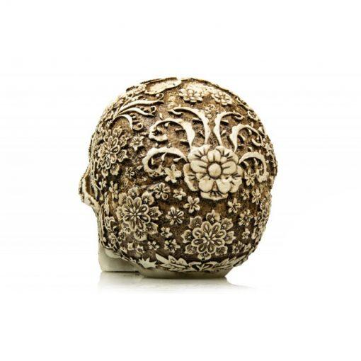 GiganTerra Floral Skull Mintás koponya dekoráció és búvóhely