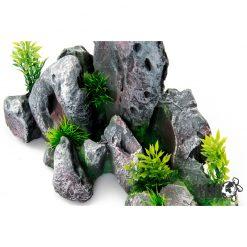 GiganTerra Vulkanikus szikla dekoráció kis növényekkel