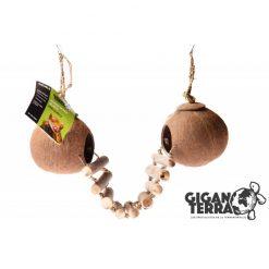 GiganTerra Double Coconut Shelter Kókuszdió bújóka létrával