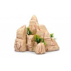GiganTerra Kőszikla dekoráció kis növényekkel