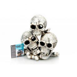 GiganTerra Triple Skull 3 Koponya dekoráció és búvóhely | 18 cm