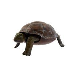GreenJem Kézzel festett fém ajándéktárgy | Barna teknős