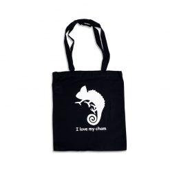 I Love My Cham Vászon bevásárló szatyor | Fekete