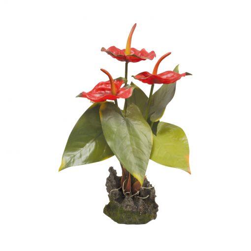 Lucky Reptile Piros flamingóvirág műnövény | 35 cm