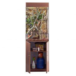 Prémium terrárium szekrény - dió | L