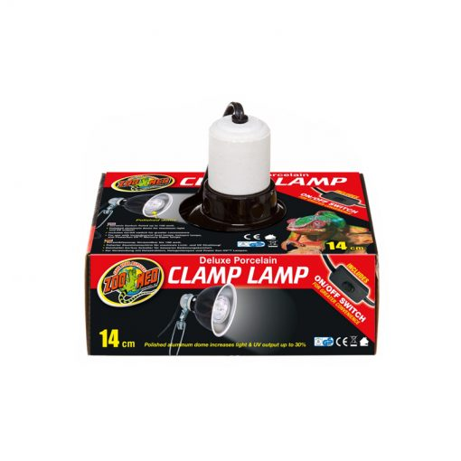 ZooMed Deluxe Porcelain Clamp Lamp Lámpabúra 14cm | 100W